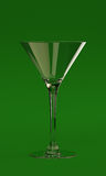 Martini Glass. An empty glass for a martini Royalty Free Stock Images