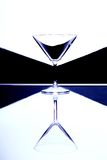 Martini Glass. Vertically mirrored geometry royalty free stock image