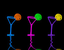 Martini glass. Picture about pink three martini glasses with lime royalty free stock photo