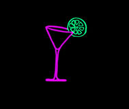 Martini glass. Picture about pink martini glass with green lime royalty free illustration
