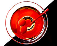 Martini in a glass royalty free stock image