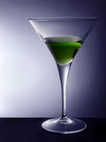 Martini Glass. Green cocktail in martini glass Royalty Free Stock Photos