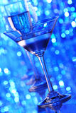 Martini glass. In holiday light Royalty Free Stock Image