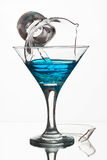 Martini glass with water and broken glass Royalty Free Stock Photo