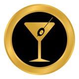 Martini glass button. Royalty Free Stock Photos