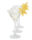 Martini glass and carambola Royalty Free Stock Photos