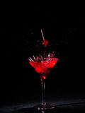 Martini glass with cherries Royalty Free Stock Images