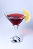 Martini glass close-up with red wine Stock Photography
