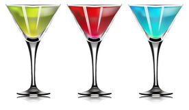 Martini glass. cocktail set. On White Background. Vecto. R Illustration vector illustration