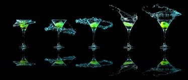 Martini glass collection Stock Photo