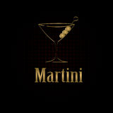Martini glass design menu background Royalty Free Stock Images