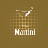Martini glass design menu background Royalty Free Stock Photography