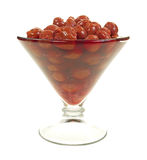 Martini Glass Filled With Cherries Stock Images