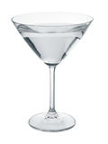 Martini glass filled with liquid. Stock Image