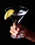 Martini Glass with Lemon Royalty Free Stock Image