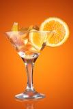 Martini glass with orange Royalty Free Stock Photos