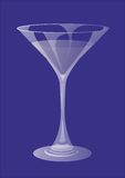 Martini glass. Picture martini glass on a blue background Royalty Free Illustration