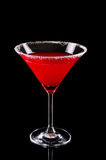 Martini glass with red coctail Stock Image