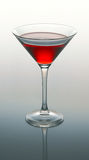 Martini glass with red coctail Royalty Free Stock Images