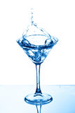 Martini glass splash Stock Photos