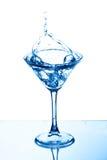 Martini glass splash Stock Photos