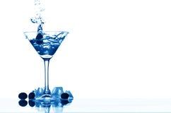 Martini glass splash Royalty Free Stock Photo