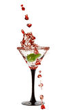 Martini Glass with a splash of Stock Photography