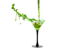 Martini Glass with a splash of Stock Photos