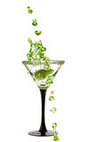 Martini Glass with a splash of Royalty Free Stock Photo