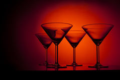 Martini glasses Royalty Free Stock Photography