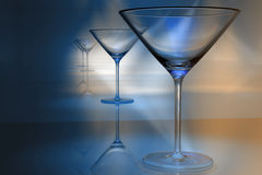 Martini glasses. A background of martini glasses Royalty Free Stock Images