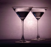 Martini glasses Stock Photography