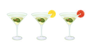 Martini glasses Royalty Free Stock Photos