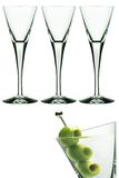 Martini glasses. Isolated on white background with the example of serving with olive Royalty Free Stock Images
