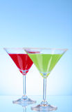Martini glasses Stock Photos