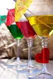 Martini glasses Royalty Free Stock Image