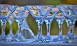 Martini Glasses. Empty martini glasses close-up Stock Image