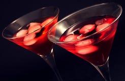 Martini glasses Stock Photo