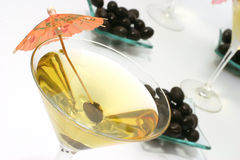 Martini glasses with black olives Stock Photos