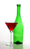 Martini glasses bottle Royalty Free Stock Image