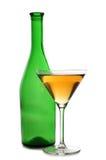 Martini glasses on bottle Stock Photography