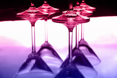 Martini glasses II royalty free stock photos