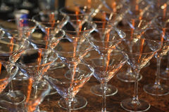 Martini glasses1 Royalty Free Stock Images
