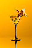 Martini with green olives Royalty Free Stock Photo