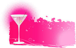Martini halftone background. Martini on pink halftone grungy background Royalty Free Stock Photo