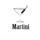 Martini-het menuachtergrond van het glasontwerp Royalty-vrije Stock Foto