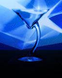Martini II. Martini glass with blue background Stock Photo