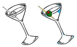Martini ilustracja Fotografia Royalty Free