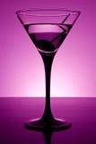 Martini im Purpur stockbilder