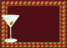 Martini Invite. Cocktail with room for type Stock Image